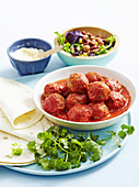Tender Mexican meatballs