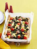 Kale, Sausage and Ricotta Tart