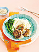 Pork Rissoles with Spiced apple sauce