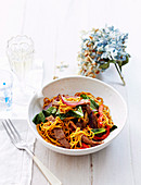 Spiced pork noodles