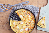 Sweet potato frittata with goat's cheese
