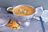 Sweet potato and avocado soup