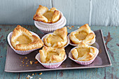 Sweet puff pastry tartlets made with sweet potatoes