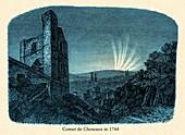 Great Comet of 1744, illustration