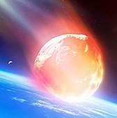 Meteor fireball, illustration