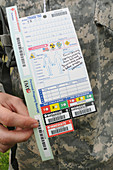 Mass casualty training exercise triage label