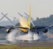 Cargo plane landing