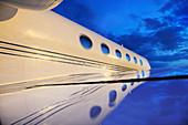 Gulfstream private jet, close-up
