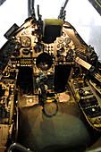Harrier jump jet cockpit