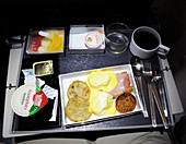 Airline economy class meal