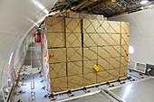 Cargo plane hold