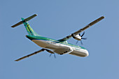 ATR 72-500 turboprop aircraft in flight