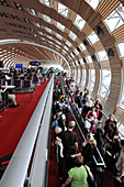 Airport terminal, Charles de Gaulle Airport, Paris, France