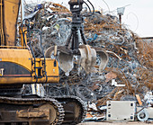Scrap metal recycling centre, Texas, USA