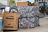 Scrap metal recycling centre, Texas, USA