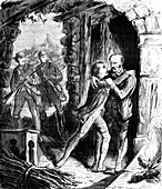 Arrest of the General Berton, 19th Century illustration