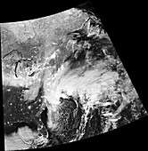 US East coast bomb cyclone, 2018, satellite image