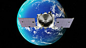 OSIRIS-REx asteroid mission gravity boost, illustration