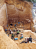 Excavations at Gran Dolina fossil site, Spain