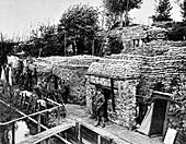 British trenches near Ypres, Belgium, First World War