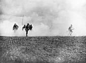 Gas attack, Western Front, First World War