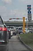 Flood gauge, Houston, USA
