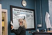Vessel information, Soo Locks, Michigan, USA