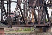 Bridge repair, Michigan, USA