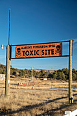 Site of leaking underground gasoline tanks, Colorado, USA