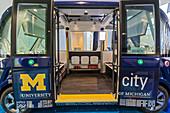 Autonomous shuttle bus