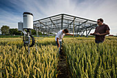 Crop climate change research, France