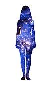 Star woman, illustration