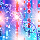 DNA strand, illustration