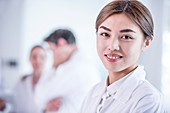 Young female medical student