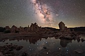 Milky Way over Mono Lake, California, USA