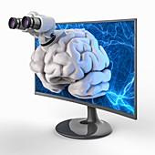 Brain research, illustration