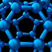 Buckyball molecule C60 detail, illustration