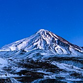Mount Damavand at dusk, Iran