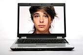 Online identity, conceptual image