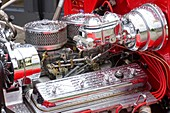 Ford Coupe Hot Rod engine