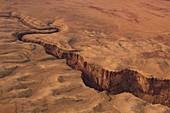 Deep canyon, aerial photograph