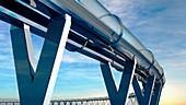 Hyperloop transport, artwork