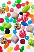 Brightly coloured sweets