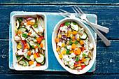Gebackenes Gemüse mit Feta