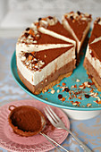 Chcolate layered cheesecake (no bake)
