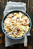 Celeriac salad with pineapple and cranberries