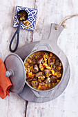 Oriental lamb ragout with apricots