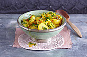 Oriental chermoula potatoes
