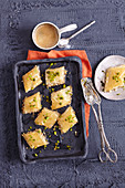 Oriental baklava with pistachio nuts