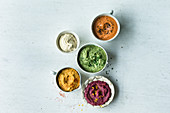 Five types of hummus